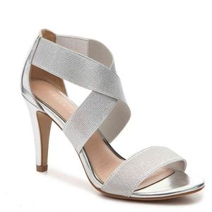 Kelly & Katie Larinia Silver Evening Heeled Sandal